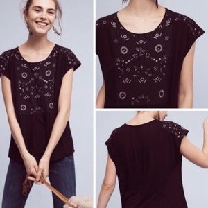 Anthropologie Aakemi + Kin Arcana Embroidered Top